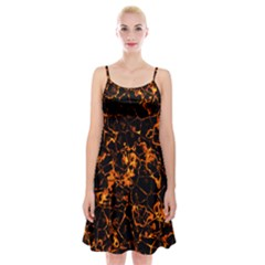 Fiery Ground Spaghetti Strap Velvet Dress
