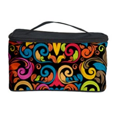 Chisel Carving Leaf Flower Color Rainbow Cosmetic Storage Case