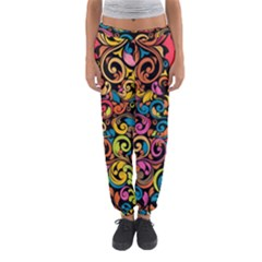 Chisel Carving Leaf Flower Color Rainbow Women s Jogger Sweatpants by Alisyart