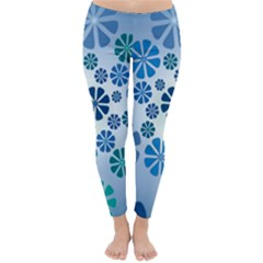 Geometric Flower Stair Classic Winter Leggings