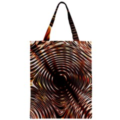 Gold Waves Circles Water Wave Circle Rings Zipper Classic Tote Bag
