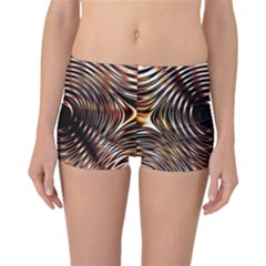 Gold Waves Circles Water Wave Circle Rings Boyleg Bikini Bottoms