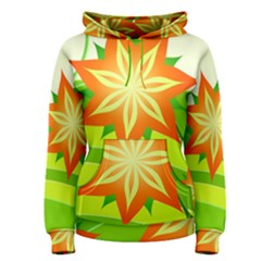 Graphics Summer Flower Floral Sunflower Star Orange Green Yellow Women s Pullover Hoodie
