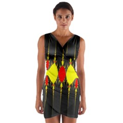 Hyperbolic Complack  Dynamic Wrap Front Bodycon Dress