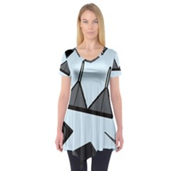 Grown Ups Guide To Underwear Opener Black Blue Short Sleeve Tunic