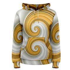 Golden Spiral Gold White Wave Women s Pullover Hoodie