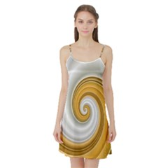 Golden Spiral Gold White Wave Satin Night Slip by Alisyart
