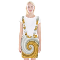 Golden Spiral Gold White Wave Suspender Skirt