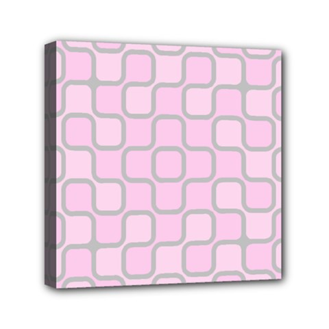 Light Pastel Pink Mini Canvas 6  X 6  by Alisyart
