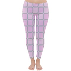 Light Pastel Pink Classic Winter Leggings