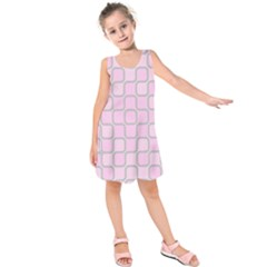 Light Pastel Pink Kids  Sleeveless Dress by Alisyart