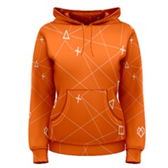 Leadership Deep Dive Orange Line Circle Plaid Triangle Women s Pullover Hoodie