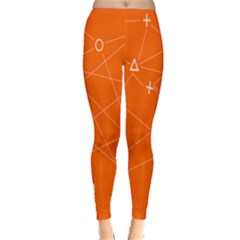 Leadership Deep Dive Orange Line Circle Plaid Triangle Classic Winter Leggings
