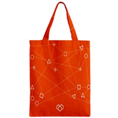 Leadership Deep Dive Orange Line Circle Plaid Triangle Zipper Classic Tote Bag