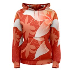 Lily Flowers Graphic White Orange Women s Pullover Hoodie