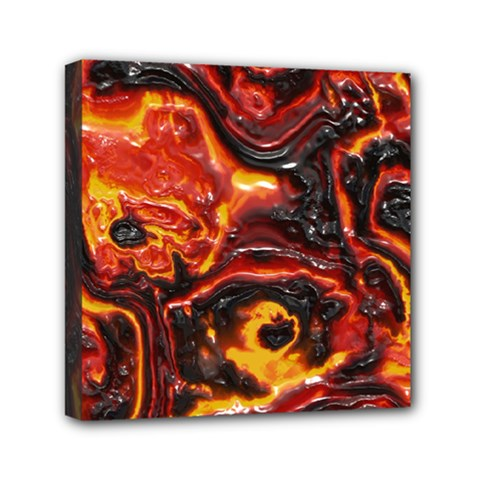 Lava Active Volcano Nature Mini Canvas 6  X 6  by Alisyart