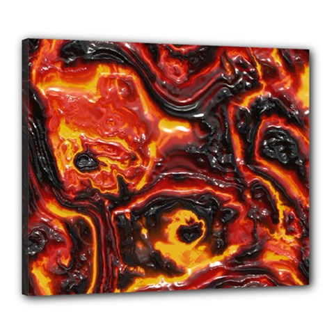 Lava Active Volcano Nature Canvas 24  X 20  by Alisyart