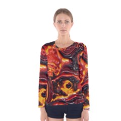 Lava Active Volcano Nature Women s Long Sleeve Tee
