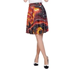 Lava Active Volcano Nature A-Line Skirt