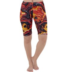 Lava Active Volcano Nature Cropped Leggings  by Alisyart