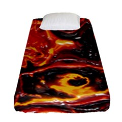 Lava Active Volcano Nature Fitted Sheet (single Size) by Alisyart