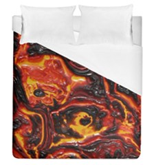 Lava Active Volcano Nature Duvet Cover (queen Size) by Alisyart