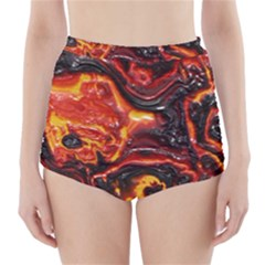 Lava Active Volcano Nature High Waisted Bikini Bottoms by Alisyart