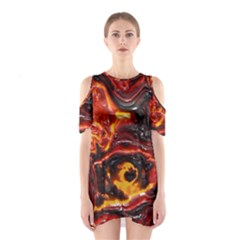 Lava Active Volcano Nature Shoulder Cutout One Piece by Alisyart