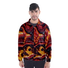 Lava Active Volcano Nature Wind Breaker (men) by Alisyart