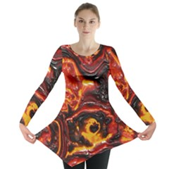 Lava Active Volcano Nature Long Sleeve Tunic  by Alisyart