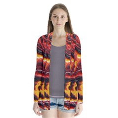 Lava Active Volcano Nature Cardigans