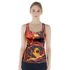 Lava Active Volcano Nature Racer Back Sports Top by Alisyart