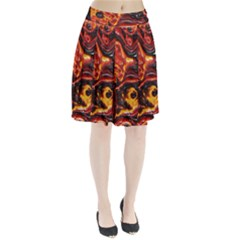 Lava Active Volcano Nature Pleated Skirt by Alisyart