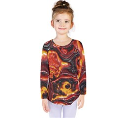 Lava Active Volcano Nature Kids  Long Sleeve Tee
