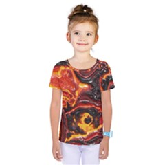Lava Active Volcano Nature Kids  One Piece Tee