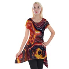 Lava Active Volcano Nature Short Sleeve Side Drop Tunic