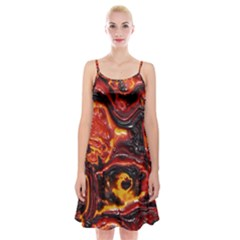 Lava Active Volcano Nature Spaghetti Strap Velvet Dress by Alisyart
