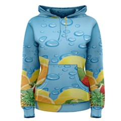 Fruit Water Bubble Lime Blue Women s Pullover Hoodie