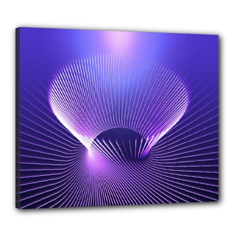 Lines Lights Space Blue Purple Canvas 24  X 20