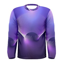 Lines Lights Space Blue Purple Men s Long Sleeve Tee
