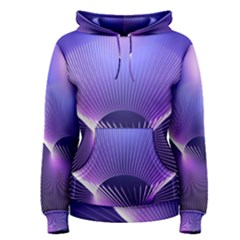 Lines Lights Space Blue Purple Women s Pullover Hoodie