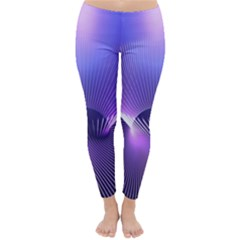 Lines Lights Space Blue Purple Classic Winter Leggings