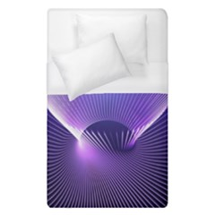 Lines Lights Space Blue Purple Duvet Cover (single Size) by Alisyart