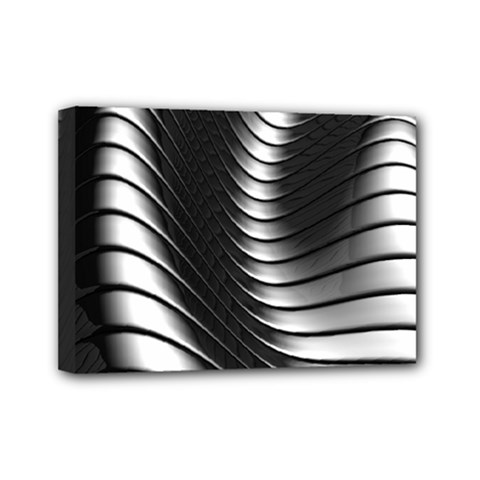 Metallic Waves Mini Canvas 7  X 5
