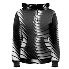 Metallic Waves Women s Pullover Hoodie