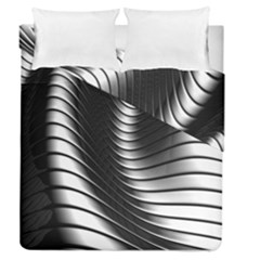 Metallic Waves Duvet Cover Double Side (queen Size) by Alisyart
