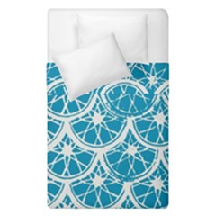 Lime Blue Star Circle Duvet Cover Double Side (single Size) by Alisyart