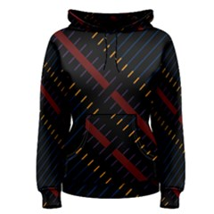 Material Design Stripes Line Red Blue Yellow Black Women s Pullover Hoodie