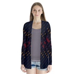 Material Design Stripes Line Red Blue Yellow Black Cardigans