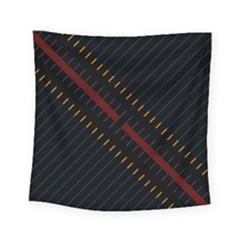 Material Design Stripes Line Red Blue Yellow Black Square Tapestry (small)